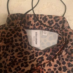 Cheetah Mini Slip Dress